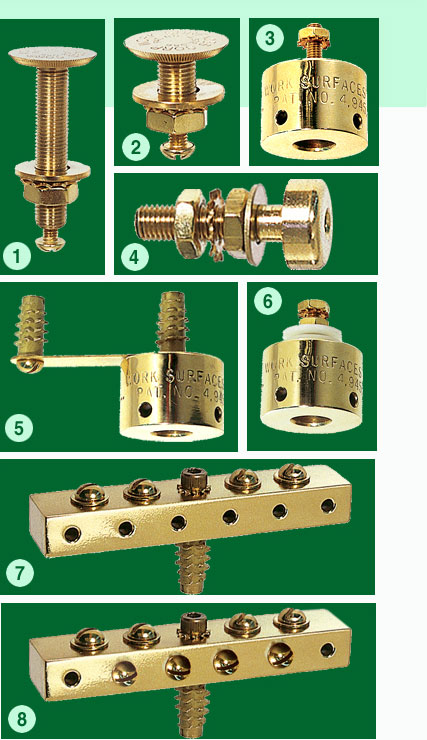 ESD brass grounding products